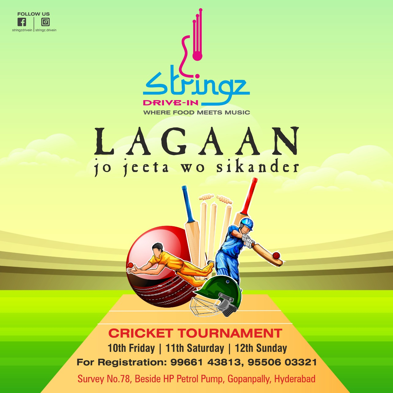 stringz cricket tournament